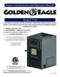 7700 Golden Eagle Owner's Manual