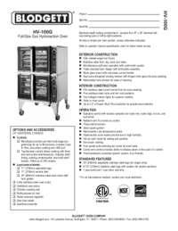 HV 100G spec sheet