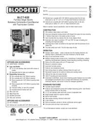 BLCT 62E Specification