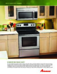 AMANA OVEN GUIDE