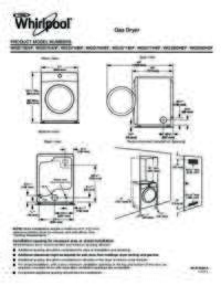 Dimension Guide Gas Dryer