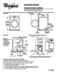 Dimension Guide for Electric Dryers