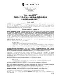 ThruWall Warranty