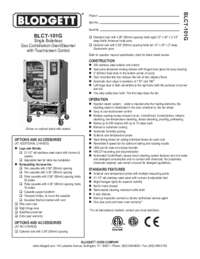 BLCT 101G Specification