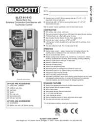 BLCT 61 61G Specification