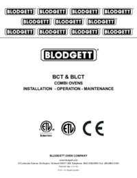 BCT and BLCT Series Combi Ovens Manual