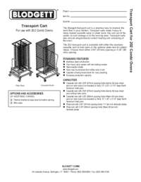 Transport Cart for use with  202 Copmbi Ovens