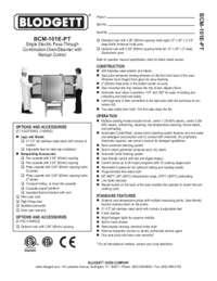 BCM 101E PT spec