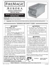 User Manual   Double Side Burner, Aurora