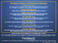 FireMagic Outdoor Grill Warranty