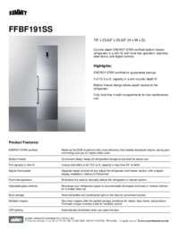 FFBF191SS Spec Sheet