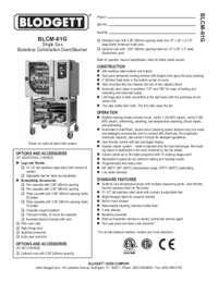 BLCM 61G  Specification