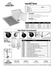 Aluminun Baking Pans Spec Sheet