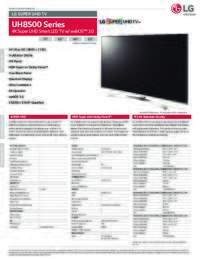 UH8500 Series Spec Sheet