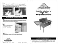 Installation Instructions for Budget Sink No Splash Drainboards