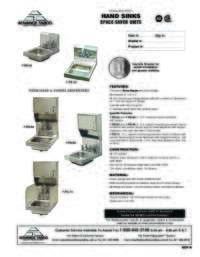 Space Saver Units Spec Sheet
