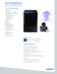 Specification Electric Dryer