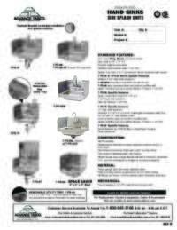 Side Splashes Units Spec Sheet
