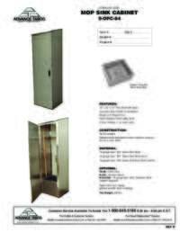 9 OPC 84 X Mop Sink Spec Sheet