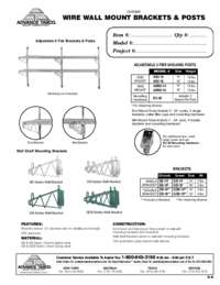 Wire Wall Mount Brackets and Posts