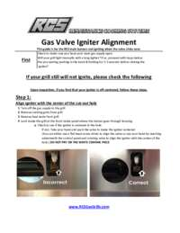 Gas Valve Alignment Instruction Manual