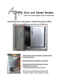 Agape Doors and Drawers Features Sheet
