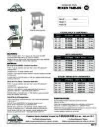 Mixer Tables Spec Sheet
