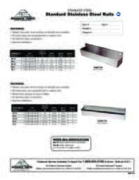Standard Stainless Steel Rails Spec Sheet