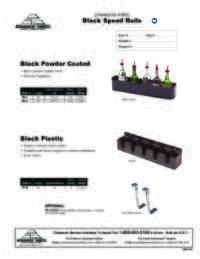 Black Speed Rails Spec Sheet