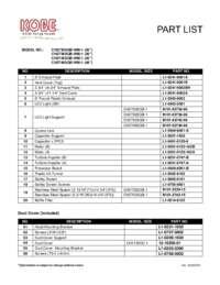 Part List CH27 SQB WM 1 Series