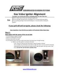 Gas Valve Alignment Instruction Manual