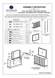 5180 90002 Drawer Dresser Assembly Instruction