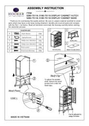 Display Cabinet Assembly Instruction