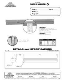 Check Minder Spec Sheet