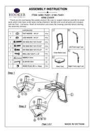 Corsica Arm Chair Assembly Instruction