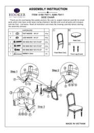 Corsica Dark Side Chair Assembly Instruction