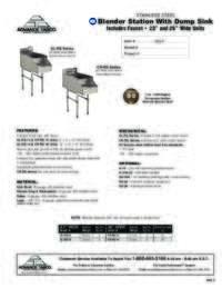 Blender Station Spec Sheet