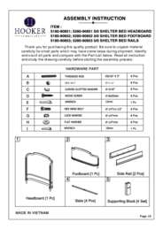 Corsica Queen Shelter Bed Assembly Instruction