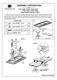 Corsica Dining Room Table Assembly Instruction