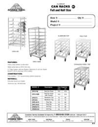 Can Racks Spec Sheet