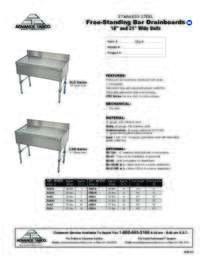 Drainboard Spec Sheet