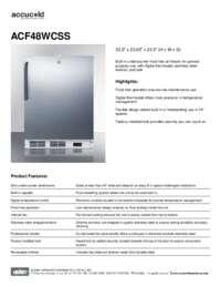 Brochure ACF48WCSS
