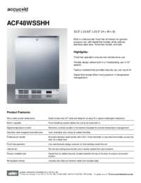 Brochure ACF48WSSHH