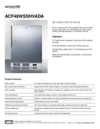 Brochure ACF48WSSHVADA