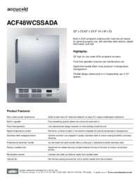 Brochure ACF48WCSSADA