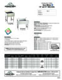Ice Bins Spec Sheet