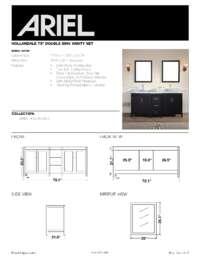 E073D  Install spec sheet