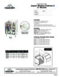 Liquior Cabinet Spec Sheet
