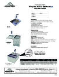 Drop In Water Stations Spec Sheet