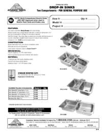 2 Compartment Drop In Sinks